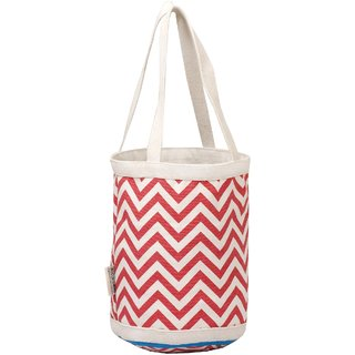 Pink zig zag design Small Bag with Two Handles