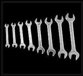 Double open end spanner set. of 6 pcs