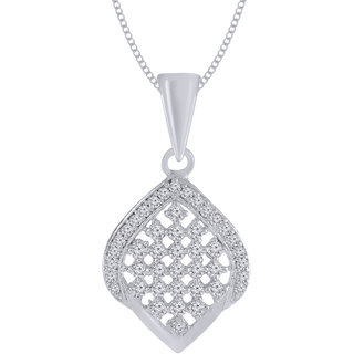 Jewelscart.In Fashion CZ Phenomenal Silver Plated Pendant Jewellery With Chain For Woman