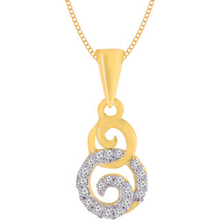 Jewelscart.In Fashion CZ Luxurious Gold Plated AD Pendant Jewellery With Chain For Woman