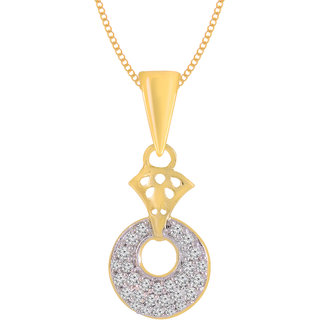 Jewelscart.In Fashion CZ Dashing Gold Plated AD Pendant Jewellery With Chain For Woman