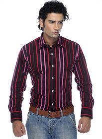 Zeal Garments Maroon Stripes Shirt for Men