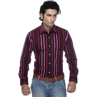 Zeal Garments Maroon Stripes Shirt for Men