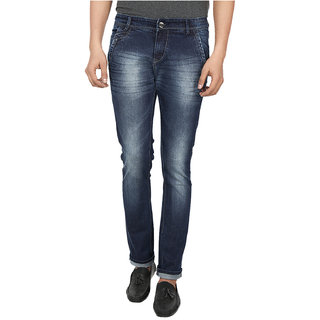 Fever  Denim Lycra Blue Narrow Jeans 211650-1-28