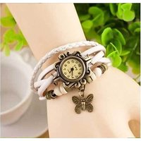 Special White Casual Analog Leather Women Wrist Watch (Original)