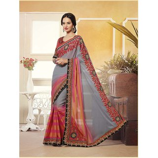 Latest Designer Embroidered Georgette Saree TEKK2310