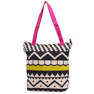 Pick Pocket Accrue Lime Green And Pink Tote