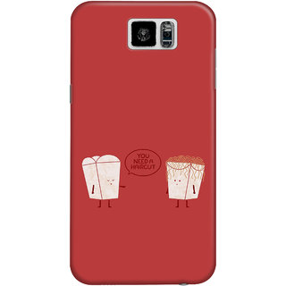 The Fappy Store need hair cut  plastic back cover for Samsung galaxy s6
