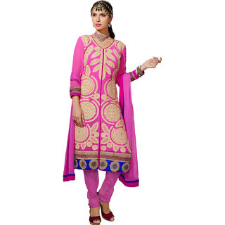 Kvsfab Pink Jacquard Embroidered Suit (1012 First)