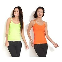 Combo - Neon Green  Orange Camisole Top