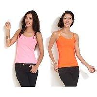 Combo - Neon Pink  Orange Camisole Top