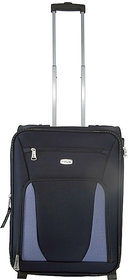 Morocco Upright 55 Cm Blue 2 Wheel Trolley For Travel ( Cabin - Small Luggage )