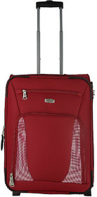 Morocco Upright 55 Cm Red 2 Wheel Trolley For Travel ( Cabin - Small Luggage )