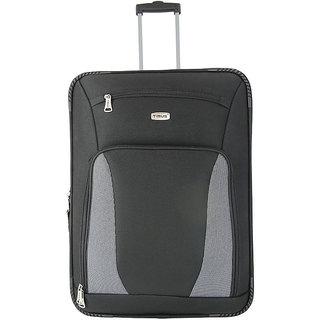 Morocco Upright 65 Cm Black 2 Wheel Trolley For Travel ( Check In - Medium Luggage )