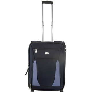 Timus Morocco Upright 55Cms Polyester Blue 4 Wheel Trolley Suitcase(Cabin Luggage)