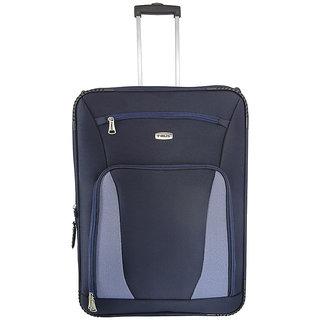Morocco Upright 65 Cm Blue 2 Wheel Trolley For Travel ( Check In - Medium Luggage )
