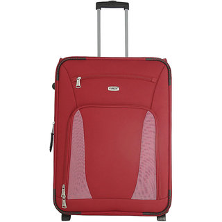 Morocco Upright 65 Cm Red 2 Wheel Trolley For Travel ( Check In - Medium Luggage )