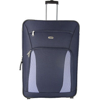 Morocco Upright 75 Cm Blue 2 Wheel Trolley For Travel ( Check In - Large Luggage )