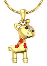 Zomint Pony Boy Pendant in 18K Yellow Gold