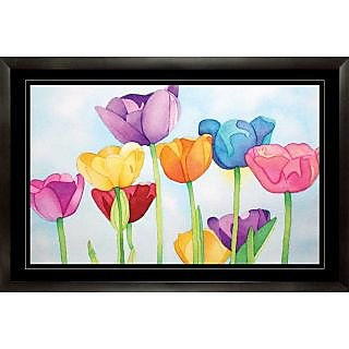 Abstract Designer Painting with Frame (25 inch x 17 inch)