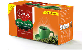 Nutrus Green Coffee Punch (20 sachets) Pack of 3