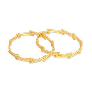 Pooja Bangles Set Of 2 23.5 K Gold Plated Hm-23Ban 2.6