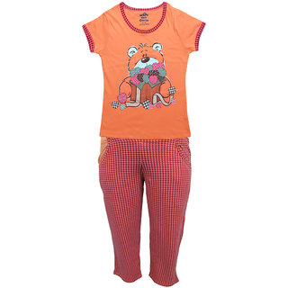 Kothari Girls Baby Pink Night Suit