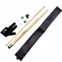Combo Of 2-Gloves,2-Tips, 2-Chalks,1- Chalk holder,1-Black Cue Cover And  Bridge Cue)