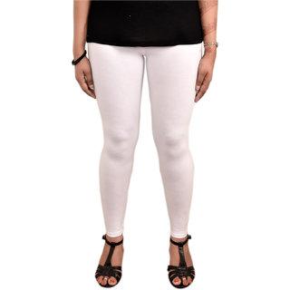 Nzuri Ankle Length Cotton Lycra Leggings White