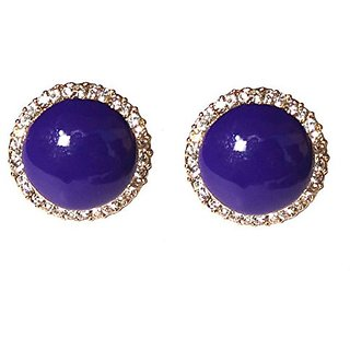 Fancy Purple Clip-on Studs Earrings
