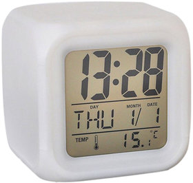 Square Color Changing Digital LED Alarm Table Clock By Everything Imported (EI)