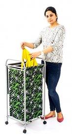 Deneb Green,Black Laundry Bag