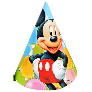 Mickey Mouse Theme party cone caps (6 pcs/pack)