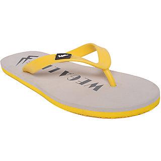 92b47a27267c Buy Wega Life Mens White Yellow Flip Flops Online - Get 60% Off