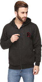 Scott International Black Cotton Comfort Styled Hooded Sweatshirt
