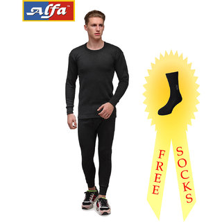 Alfa Lava PremiumThermalwear Set for Men (Upper + Lower)