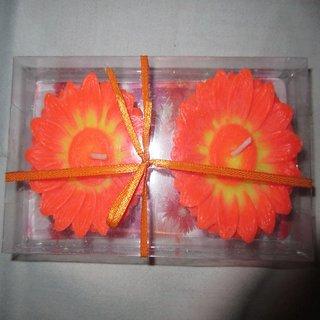 Beautiful 2 Flower shaped floating candles set