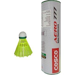 Cosco Aero 777 Plastic Shuttle - Yellow (Medium 75 Pack of 6)