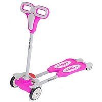 The FlyerS Bay 4 Wheel Flip Flop Scooter Pink) (Pink)