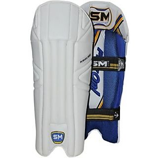 SM Players Pride Wicket keeping Leg Guard (White)