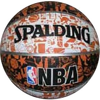 Spalding NBA Graffiti Basketball - Size 7 (Black Brown White)