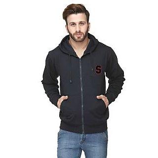 Scott International Navy Blue Cotton Comfort Styled Hooded Sweatshirt