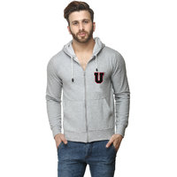Scott International Grey Cotton Comfort Styled Hooded Sweatshirt