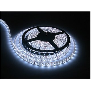 FINE 5 METRER WHITE NON WATER PROOF CUTTABLE LED STRIP WITH FREE AC ADAPTER