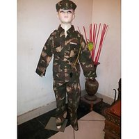 ARMY Soldier Fancy Dress For Kids With Camouflage Print