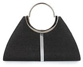 Do Bhai Fashionable Round Handle Clutch Black Clutch