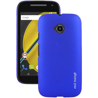 Moto E 2nd Gen Back Cover / Case - Cool Mango Premium Rubberized Back Cover for Moto E 2nd Gen - Blue