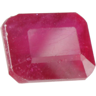 Saffire Dark Red 555 Grams Natural Ruby Gemstone In Emerald Step Cut