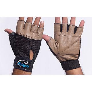Prokyde Hit Gym & Fitness Gloves (L, Brown)
