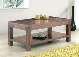 Wooden Coffee Table (with Bottom Shelf)